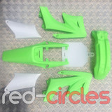 APOLLO STYLE PITBIKE PLASTICS SET - GREEN (WITHOUT SEAT)