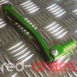 ANODISED PITBIKE / ATVGEAR LEVER - GREEN