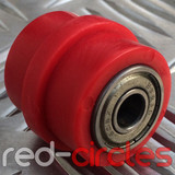 8mm RIDGED PIT BIKE CHAIN ROLLER - RED