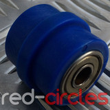 8mm RIDGED PIT BIKE CHAIN ROLLER - BLUE