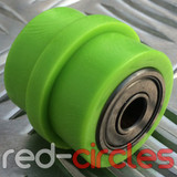 8mm RIDGED PIT BIKE CHAIN ROLLER - GREEN