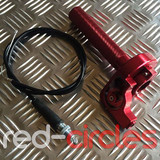RCR PITBIKE QUICK ACTION THROTTLE TWIST - RED