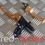 QUICK ADJUST CNC PITBIKE FOLDING CLUTCH & BRAKE LEVER SET - GOLD