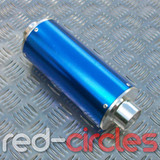 PITBIKE BIG BORE EXHAUST MUFFLER - BLUE