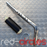 CRF70 SIZE PITBIKE CNC EXHAUST SYSTEM - SILVER