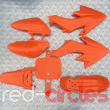 CRF50 STYLE PITBIKE PLASTIC SET - ORANGE (WITHOUT SEAT)