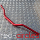PITBIKE MID BEND FATBARS - RED
