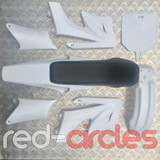 APOLLO STYLE PITBIKE PLASTICS KIT - WHITE (WITH SEAT)