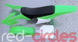 APOLLO STYLE PITBIKE PLASTIC KIT - GREEN (WITH SEAT)
