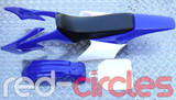APOLLO STYLE PITBIKE PLASTICS KIT - BLUE (WITH SEAT)