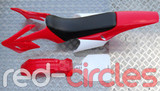 APOLLO STYLE PITBIKE PLASTICS SET - RED (WITH SEAT)