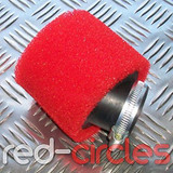 40mm ANGLED PITBIKE / ATV FOAM AIR FILTER - RED