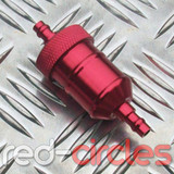 INLINE FUEL FILTER - RED