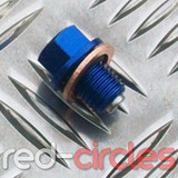 MAGNETIC SUMP PLUG - BLUE