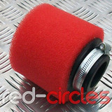 45mm STRAIGHT PITBIKE / ATV FOAM FILTER - RED