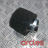 40mm ANGLED PITBIKE / ATV FOAM AIR FILTER - BLACK