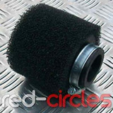 45mm STRAIGHT PITBIKE / ATV FOAM AIR FILTER - BLACK