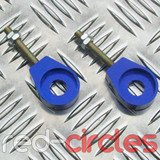 12mm EYELET PITBIKE CHAIN TENSIONERS - BLUE