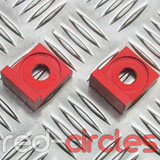 12mm BLOCK PITBIKE TENSIONERS - RED