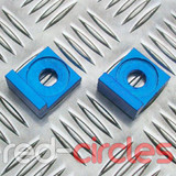12mm BLOCK PITBIKE CHAIN TENSIONERS - BLUE