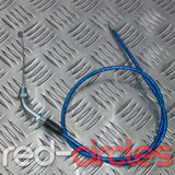 90cm ANGLED PITBIKE THROTTLE CABLE - BLUE