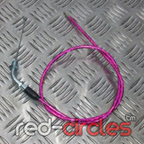 90cm ANGLED PITBIKE THROTTLE CABLE - PINK