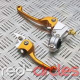 HEAVY DUTY CNC FOLDING PITBIKE LEVERS - GOLD