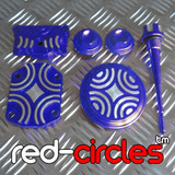 CRF50 STYLE PITBIKE BLING KIT - BLUE (SCREW IN VALVE COVERS)