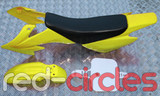 CRF50 STYLE PITBIKE PLASTICS SET - YELLOW (WITH SEAT PAD)