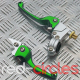 HEAVY DUTY CNC FOLDING PITBIKE LEVERS - GREEN
