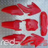 CRF70 STYLE PITBIKE PLASTICS SET - RED