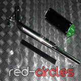 CRF50 SIZE PITBIKE CNC EXHAUST SYSTEM - GREEN