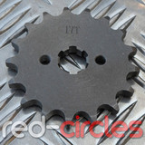 17mm PITBIKE / ATV FRONT SPROCKET - 17 TOOTH / 420 PITCH