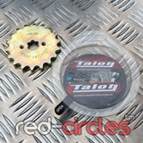 TALON 17mm PITBIKE / ATV FRONT SPROCKET - 18 TOOTH / 420 PITCH