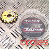 TALON 17mm PITBIKE / ATV FRONT SPROCKET - 15 TOOTH / 428 PITCH