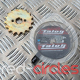 TALON 17mm PITBIKE / ATV FRONT SPROCKET - 17 TOOTH / 428 PITCH