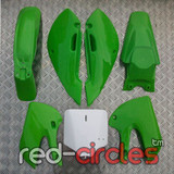 GREEN KLX PLASTICS SET - NO SEAT PAD