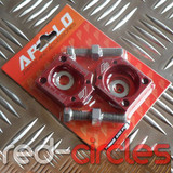 RFZ PITBIKE CHAIN TENSIONERS (AUTOBLOCKS) RED