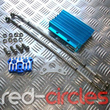 CNC PITBIKE OIL COOLER & HOSES - BLUE