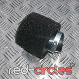 35mm ANGLED PITBIKE / ATV FOAM FILTER - BLACK
