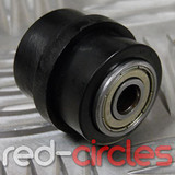 8mm RIDGED PIT BIKE CHAIN ROLLER - BLACK