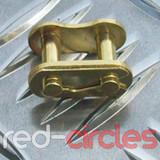 PITBIKE / ATV SPLIT LINK - GOLD / 420 PITCH