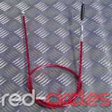 PITBIKE SECONDARY (TOP MOUNT) CLUTCH CABLE - RED