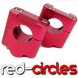RED 28mm FATBAR HANDLEBAR RISERS