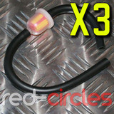 3x MINI MOTO FUEL FILTER AND HOSE