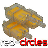 3x YELLOW INLINE FUEL FILTER