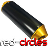 GOLD CNC 38mm PIT BIKE EXHAUST SILENCER