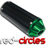 GREEN SCALLOPED PIT BIKE CNC EXHAUST SILENCER