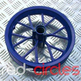 MINI DIRT BIKE FRONT WHEEL FOR TYRE SIZE 12.5 x 2.75 - BLUE