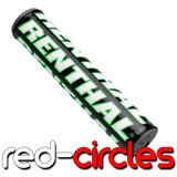 """RENTHAL 10"""" MX BAR PAD - BLACK / WHITE / GREEN"""